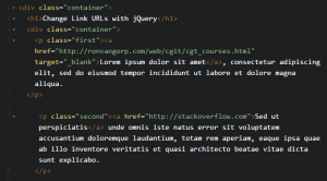 Change Link URL with jQuery - Ron VanGorp